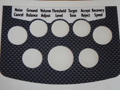 Minelab Equinox Black Grey Decal for Control Box