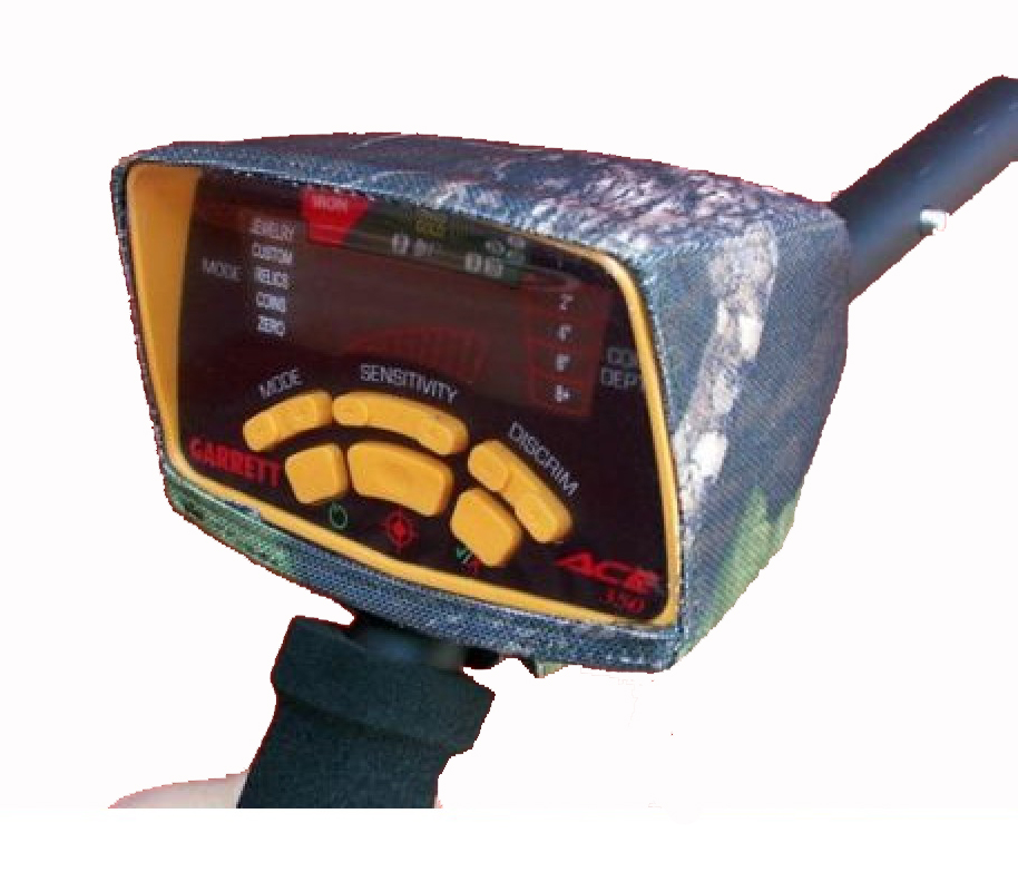 GARRETT ACE 150//250//350//400//EURO METAL DETECTOR CONTROL BOX COVER IN 600 PVC CAMO CLOTH