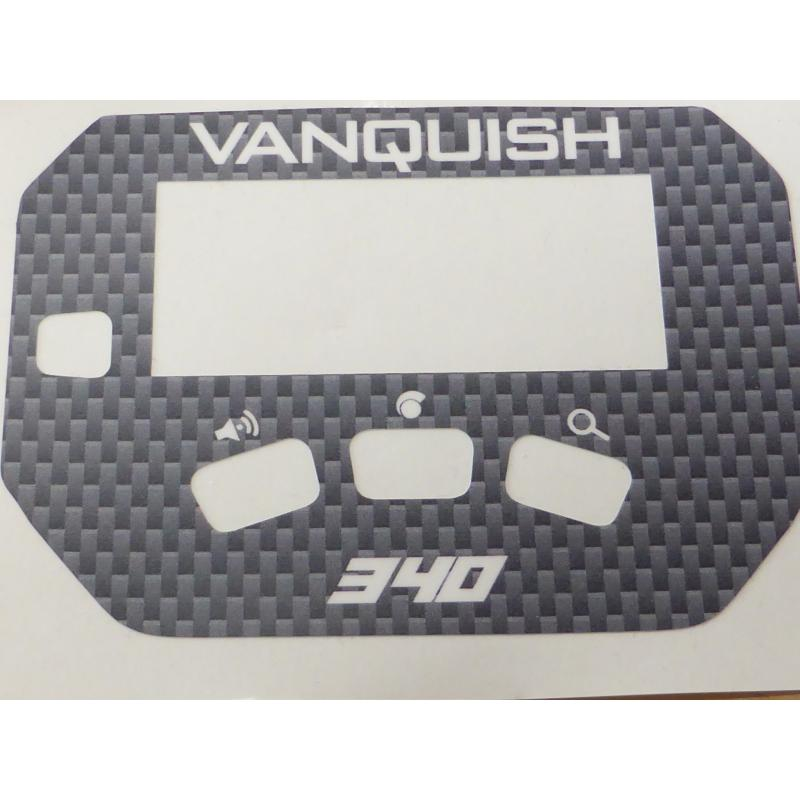 A MINELAB Vanquish 340 Keypad sticker in Grey Carbon