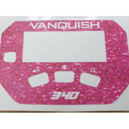 A MINELAB Vanquish 340 Keypad sticker in Pink sparkle