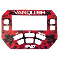 A MINELAB Vanquish 540 Keypad sticker in Red Camo