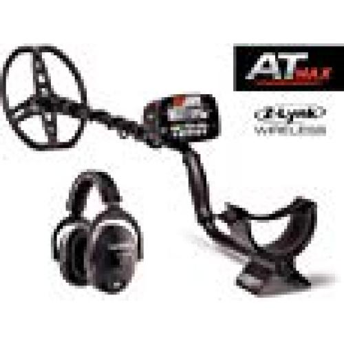 Garrett AT Max pack with Z lynk Wireless Headphones inc