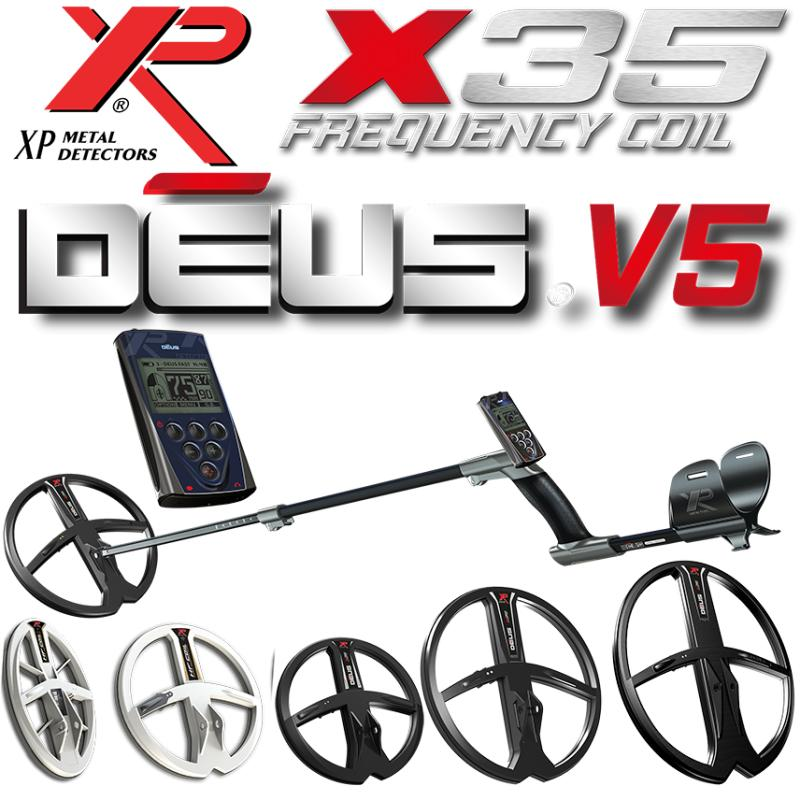 XP DEUS METAL DETECTOR WITH REMOTE WS5 AND 9HF COIL