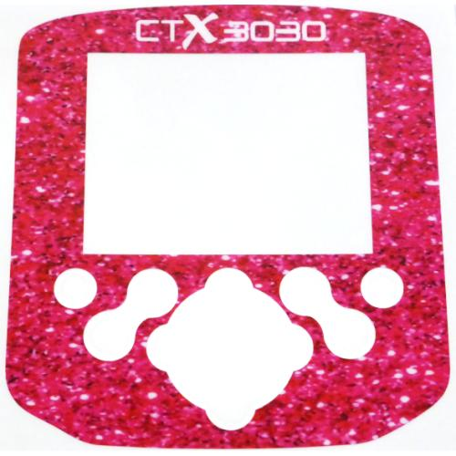 A Minelab CTX Control box / Keypad sticker in Pink Sparkles for the ladies..