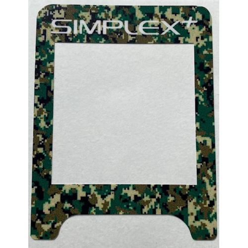A SIMPLEX VINYL CONTROL BOX COVER IN GREEN CAMO