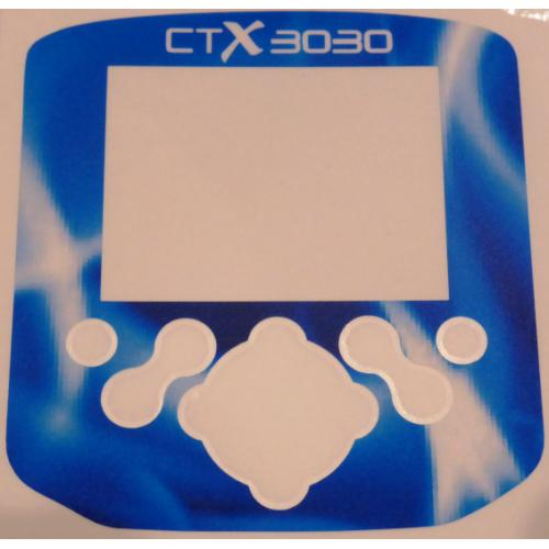 A Minelab CTX Control box / Keypad sticker in Electric Blue.