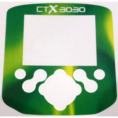 A Minelab CTX Control box / Keypad sticker in Electric Green.