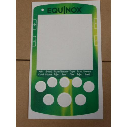 A MINELAB NOX FULL FACE KEYPAD STICKER IN ELECTRIC GREEN .
