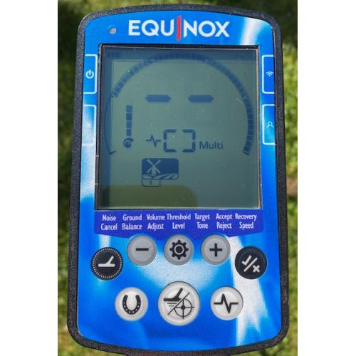 MINELAB EQUINOX FULL FACE KEYPAD STICKER IN BLUE