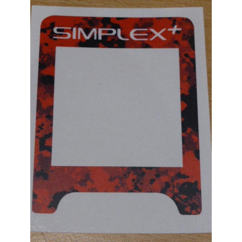 A SIMPLEX VINYL CONTROL BOX COVER IN RED CAMO