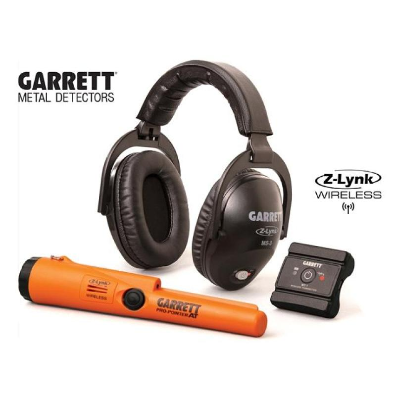 Garrett Ms-3 Wireless Headphone Kit with ProPointer AT Z-Lynk