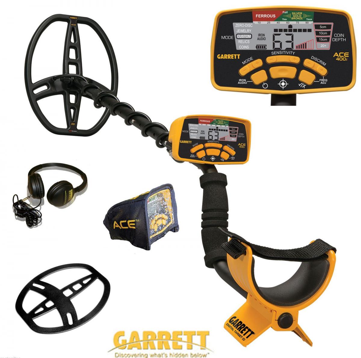 Garrett Ace 400i Metal Detector Extras